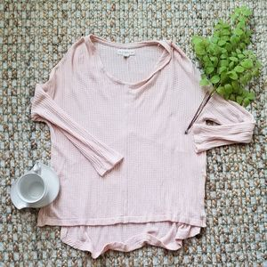 If It Were Me Anthropologie Pink Hi Lo Thermal